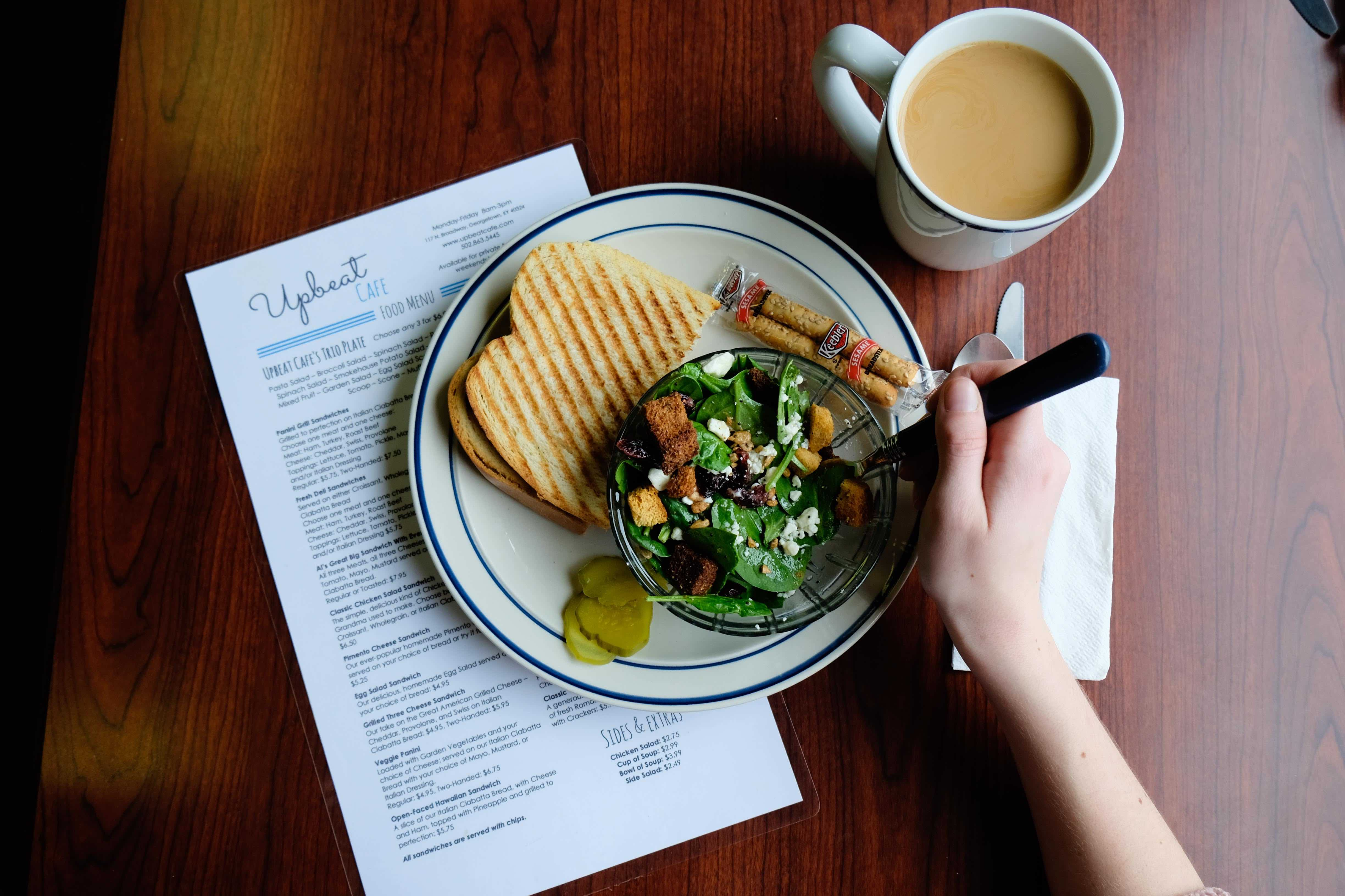 Upbeat Cafe dining guide